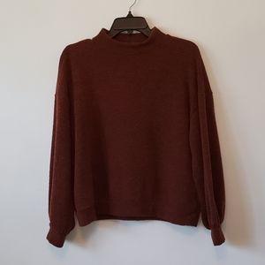 Lush - Mock Neck Copper Rust Sweater Small
